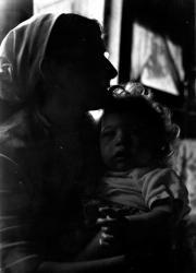 Mirka Zanko et son bébé