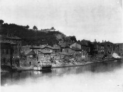 [Rive droite de la Saône, avant la construction du quai de Vaise]