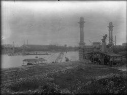 [Reconstruction du pont Pasteur, avec conservation des culées]