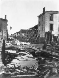 [Inondations de Lyon (1856) : angle de la rue Madame]