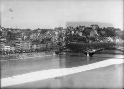 [Le pont de la Boucle, depuis la rive gauche du Rhône]