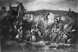 [Napoléon III au cours Morand visitant les inondés de 1856]