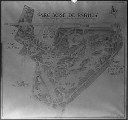 [Plan du parc boisé de Parilly sur les communes de Bron et Vénissieux]