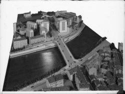[Maquette du pont Clemenceau, à la sortie du tunnel de la Croix-Rousse (côté Saône)]