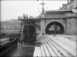 [Reconstruction du pont La Feuillée : culée de pont]