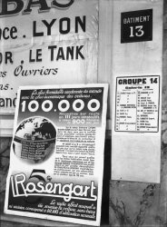 [Foire internationale de Lyon (1931) : publicité pour les automobiles Rosengart]