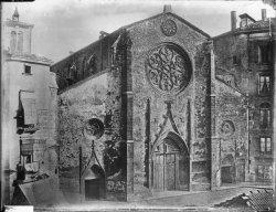 [Grands travaux d'urbanisme du Second Empire : place des Cordeliers et église Saint-Bonaventure pendant les travaux]