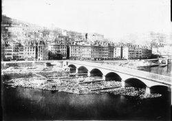 [La Saône après la démolition du pont du Change]