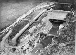 [Compagnie nationale du Rhône (CNR) : maquette pour le barrage hydroélectrique de Génissiat]