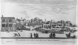 [Veue particulière de la ville de Lion sous Notre-Dame de Fourvière]