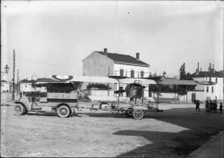 [Fort Lamothe : transport d'un avion]