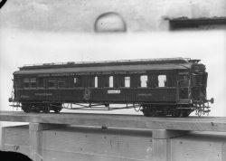 [Maquette d'un wagon-lit de la Compagnie internationale des wagons-lits et des Grands Express Européens : voiture restaurant]