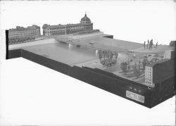 [Maquette du pont de la Guillotière : signalisation du carrefour]