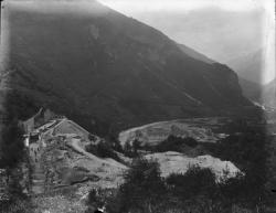 [Construction de la chute de Pomblière (Savoie) : vue générale du chantier]
