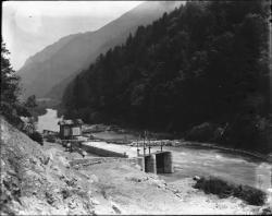 [Construction de la chute de Pomblière (Savoie)]