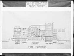 [Théâtre Massenet, à Saint-Etienne : coupe longitudinale]
