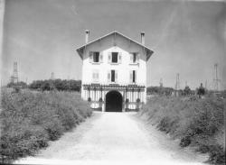 [Ecole de Cibeins, commune de Miserieux (Ain) : maison au milieu des champs]