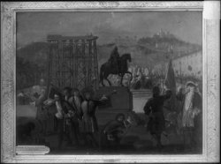 [Cérémonie de l'érection de la statue de Louis XIV sur la place Bellecour en 1714]
