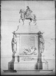 [Première statue de Louis XIV inaugurée en 1713]
