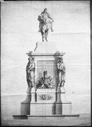 [Première statue de Louis XIV]