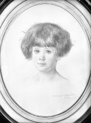 [Reproduction d'un portrait au crayon d'un jeune enfant]