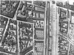 [Plan scénographique de la ville de Lyon au XVIe siècle (Pl. XII)]