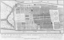 [Plan du quartier neuf à la partie méridionale de la ville de Lyon, en 1782 (Meunier scrips)]