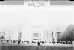 [Ville de Saint-Etienne. Projet de Tony Garnier (?) pour le Théâtre Massenet : élévation, façade principale]