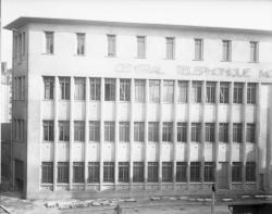 [Central téléphonique Moncey, rue Vaudrey : détail de la façade]