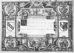 [Acte de mariage enluminé : cérémonie célébrée à l'Eglise de Saint-Nizier en octobre 1613]