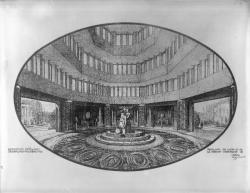 [Exposition internationale des arts décoratifs et industriels modernes à Paris en 1925, pavillon de Lyon et de la région lyonnaise. Perspective intérieure du pavillon]