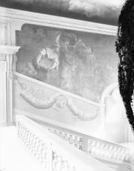 """[Hôtel de ville de Lyon. Face Est de l'escalier d'Honneur : """"Les Lendemains de l'incendie de Lyon""""]"""