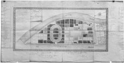 [Plan de distribution de la Presqu'île de Perrache, fait à Lyon, le 4 avril 1828]