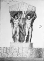 [Monument aux morts de la ville de Lyon, sur l'Ile aux Cygnes au Parc de la Tête-d'Or]