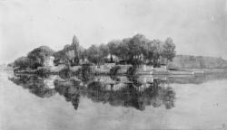 [Monument aux morts de la ville de Lyon, sur l'Ile aux Cygnes au Parc de la Tête-d'Or : vue d'ensemble du projet]