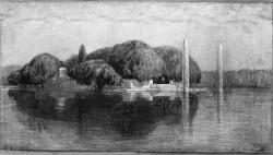 [Monument aux morts de la ville de Lyon, sur l'Ile aux Cygnes au Parc de la Tête-d'Or : projet aux deux colonnes]