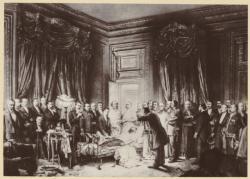 [Les Derniers instants du Président de la République Sadi Carnot, à la Préfecture de Lyon, le 24 juin 1894]