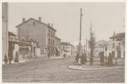 [La Place Henri à Montchat, au début du XXe siècle]