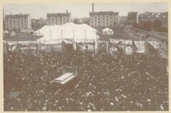 [Le Cirque Barnum et Bailey à Lyon, au début du XXe siècle]