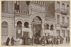[La Brasserie Fritz, à Perrache (33 cours du Midi), appartenant à la brasserie Georges, au début du XXe siècle]