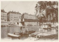 [Le Pont La Feuillée, sur la Saône, au début du XXe siècle]