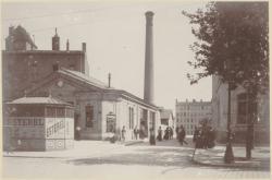 """[La Gare haute de la """"Ficelle"""" Croix-Paquet, Croix Rousse (ligne C), au début du XXe siècle]"""