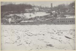 [La Saône prise par les glaces : souvenir de l'hiver 1879-1880]