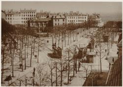 """[La Fin du boulevard de la Croix-Rousse, vers le """"Gros Caillou"""", au début du XIXe siècle]"""