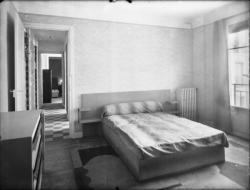 [Intérieur d'un appartement des Gratte-Ciel à Villeurbanne : la chambre à coucher]