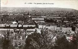 Lyon : Vue générale, prise de Fourvière.