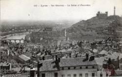 Lyon : Vue générale ; La Saône et Fourvière.