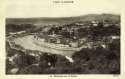Lyon illustré : Panorama sur la Saône.
