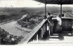 Lyon : Vue prise du Sommet Observatoire de l'Ascenseur de la Tour de Fourvière.