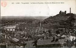 Lyon : Vue générale ; La Saône et Fourvière ; Jonction du Rhône et de la Saône.